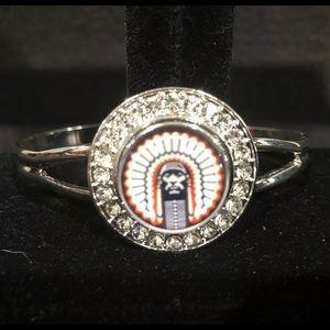 Jewelry - Fight Illini Chief Illiniwek Bangle Bracelet